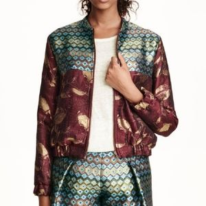 H&M Retro Metallic Knit 80s Inspired Jacket